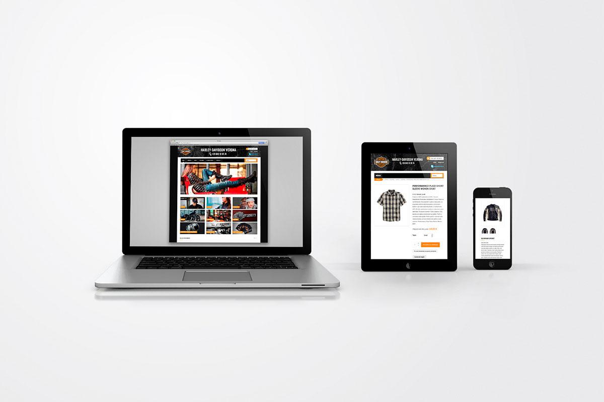 Harley Davidson Verona sito web responsive