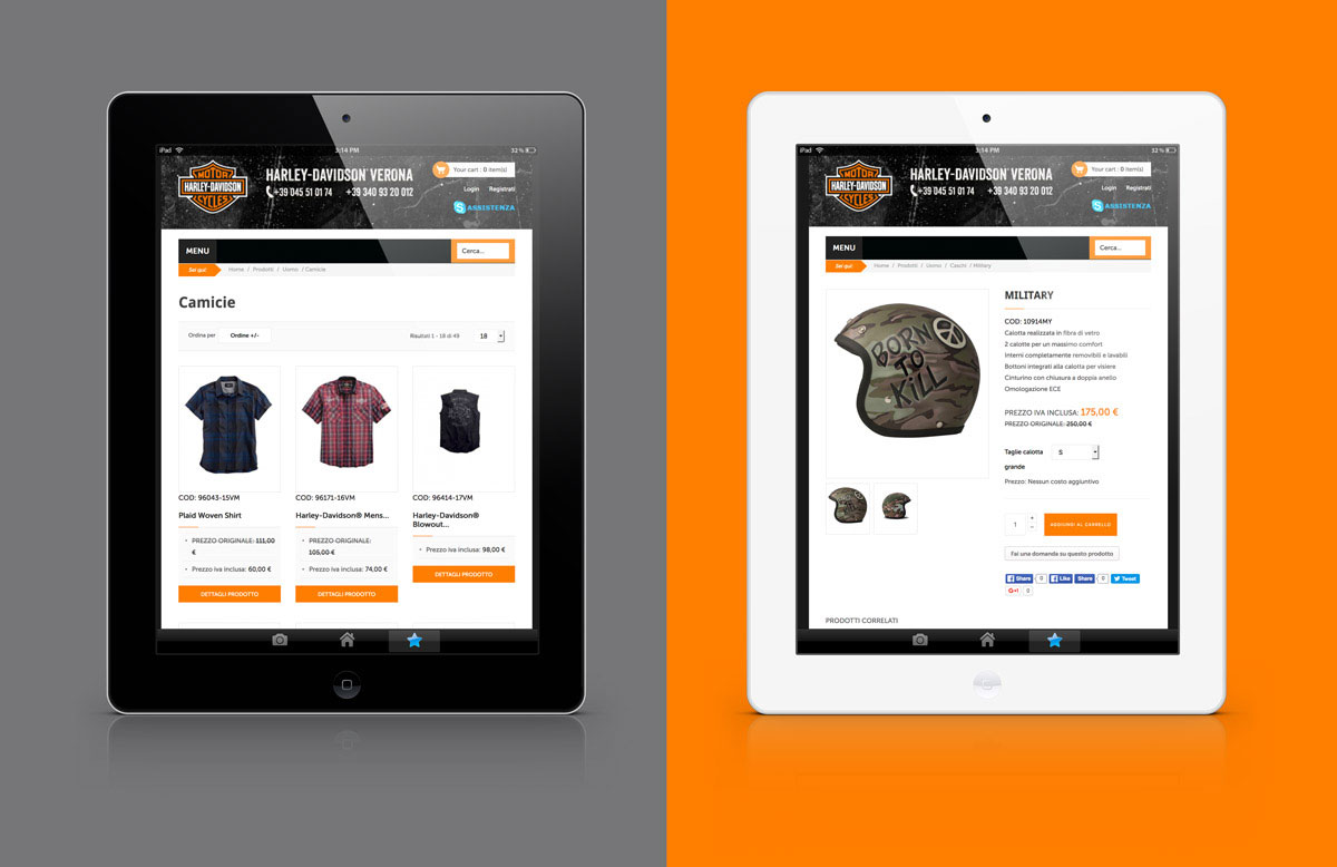 Harley Davidson Verona sito web
