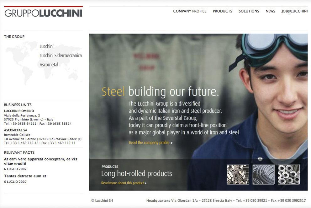 Lucchini sito web