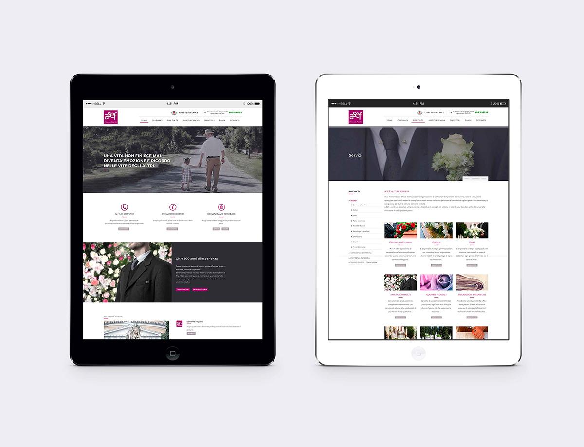 Asef sito web ipad