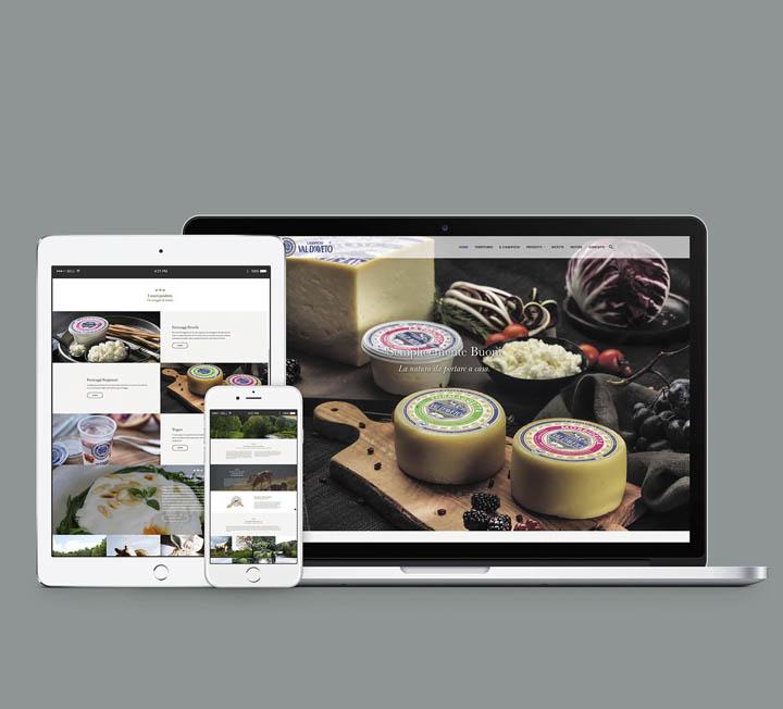 sito web Caseificio Val d'Aveto