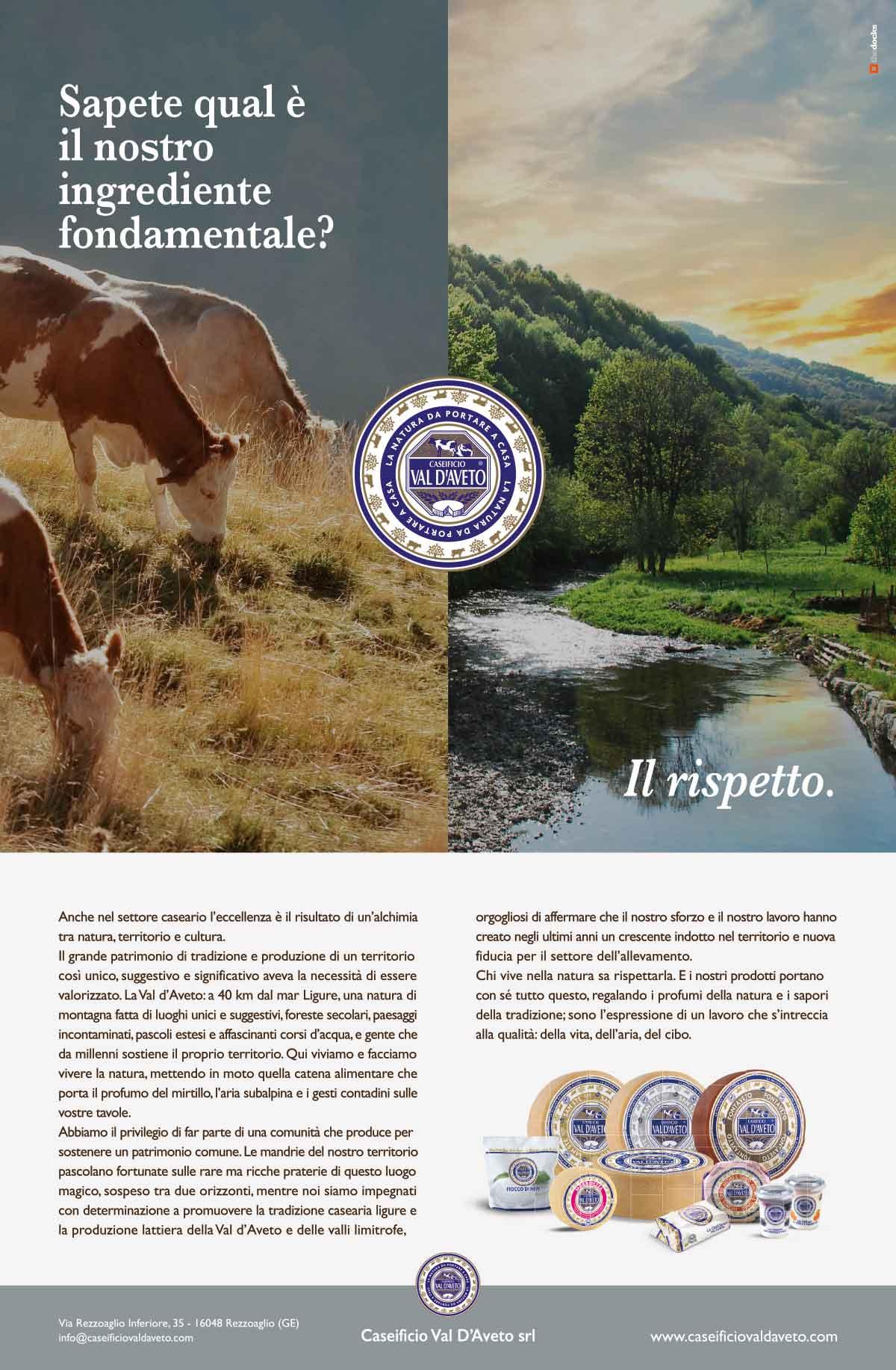 Campagna stampa Caseificio Val d'Aveto