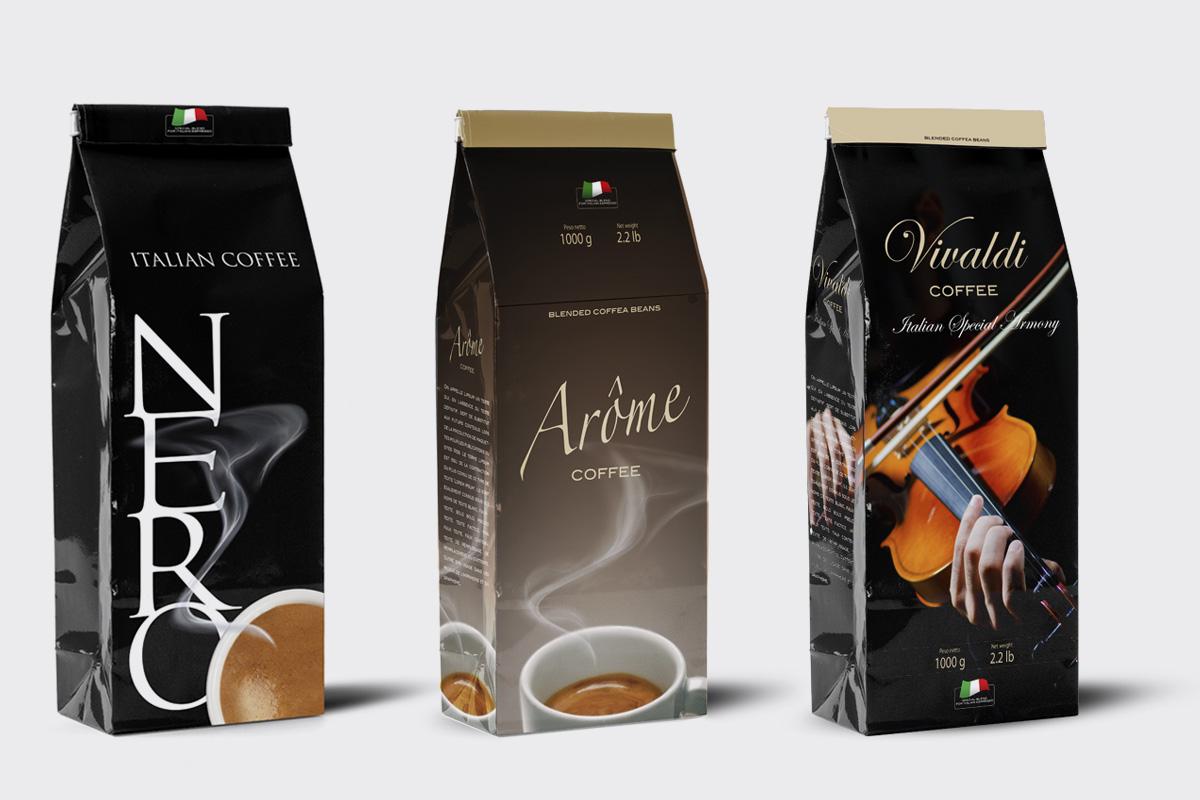 Tag caffè packaging design