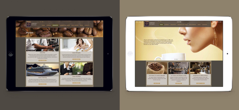 Tag caffè sito web responsive