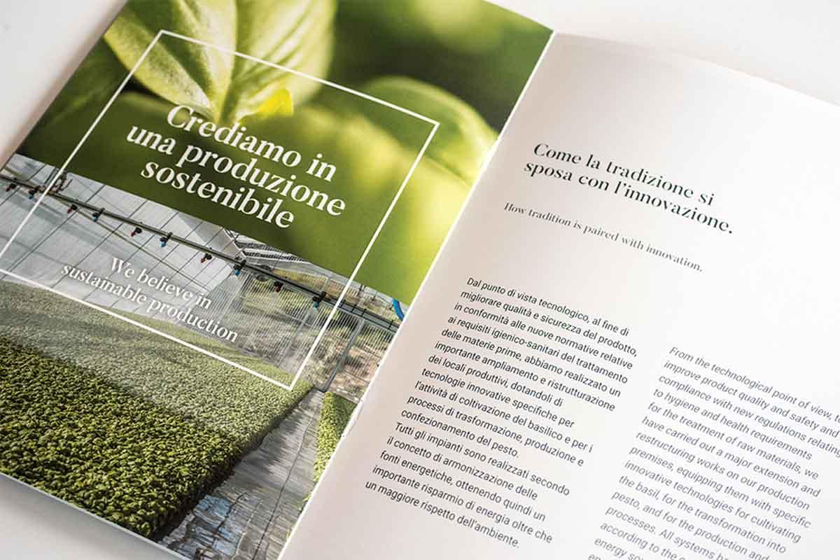 Pesto di Pra Brochure - produzione sostenibile